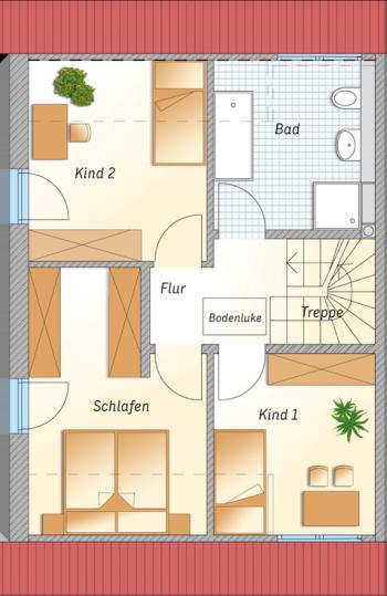 Doppelhaus Dachgeschoss links