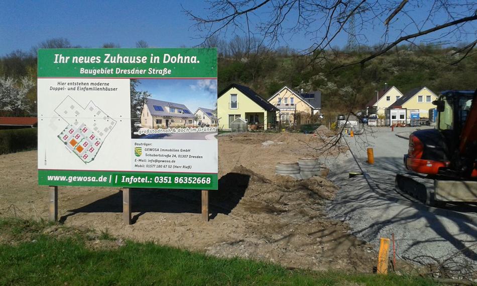 Baugebiet in Dohna